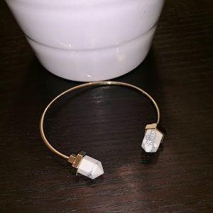 Jewelry - White Stoned Gold Cuff